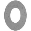 Metal Blank 24ga German Silver Washer-oval 38mm with 29mm Hole